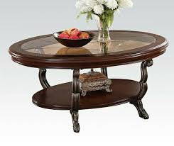 oval shaped coffee table awesome 80120 bavol cherry finish wood with glass in 8