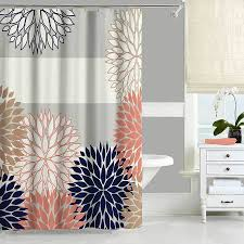 navy blue and grey shower curtain. gray, pink and blue shower curtain. click here to enlarge navy grey curtain