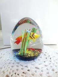 glass fish decor vintage aquarium paperweight egg coastal numbered art floating decorations