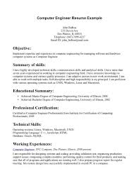 Computer Engineering Objective Resume Free Resume Example And