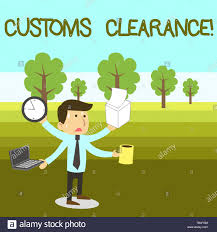 Imports Business Text Sign Showing Customs Clearance Business Photo Text