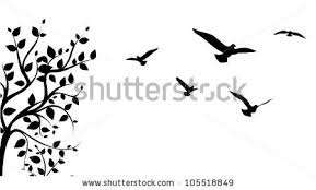 bird in flight silhouette vector.  Bird Bird Flying Around A Tree Branch Vector In Bird Flight Silhouette Vector