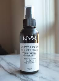 nyx dewy finish makeup setting spray 7 99 for 2 03 fl oz