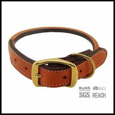 china high quality rolled brown soft best cow leather dog puppy pet collar china rolled leather dog collar brown leather dog collar