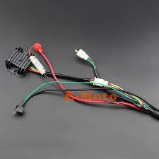 buggy wiring harness loom gy6 engine 125 150cc quad atv electric buggy wiring harness loom gy6 engine 125 150cc quad atv electric start stator 8 coil ngk spark plug go kart kandi
