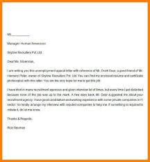 6 Example Of Unemployment Appeal Letter Inta Cf