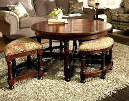 coffee table with ottomans under leather ottoman target underneath
