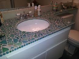 tile bathroom countertop ideas. Sea Glass And Shells Mixed Media Mosaic Bathroom Countertop By Marianas Mosaics Tile Ideas