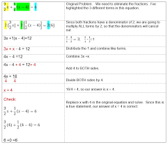 example 2 equations with fractions with the same denominator