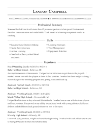 Wrestling Coach Resume Morgan Park High School Assistant Football Coach Resume