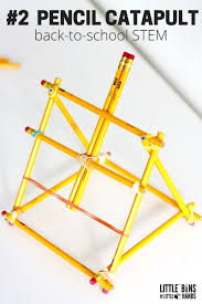 Simple Catapult Design Pencil Catapult Stem Activity For Back To School