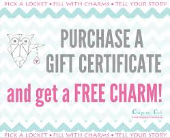 origami owl gift certificates independent designer jennylou  gift certificate earn a charm