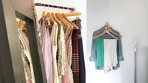 clever diy corner closet and coat rack ideas