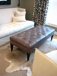 cowhide ottoman ikea cowhide rug brown leather ottoman on cow hide rug and elegant white sofa cowhide ottoman ikea