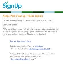 Text Invitations When Are Emails Sent From Signup Com Signup Com