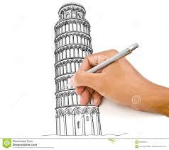 Remettez La Ligne De Dessin De Tour De Pise En Italie Pour Le