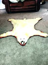 faux polar bear rug good faux polar bear rug and bear rug fake skin faux polar