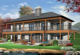 Modern Rustic House Plans  amp  Rustic Home Plans   Contemporary    The Belvedere Lakefront house plan  bedrooms  open floor plans  large covered terrace