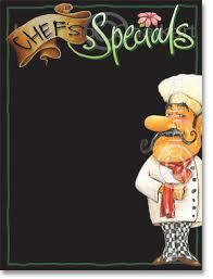 specials menu chefs specials menu board template art shop