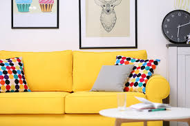 Image Amazon Yellow Sofa With Brightly Colored Polka Dot Throw Pillows Home Stratosphere 35 Sofa Throw Pillow Examples sofa Décor Guide Home Stratosphere
