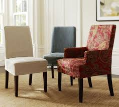 chair slipcovers with arms.  With Dining Room Chair Slipcovers For On Budget Redecoration  DesignWallscom And With Arms