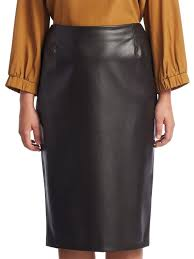 marina rinaldi plus size faux leather skirt dark brown women s bottoms