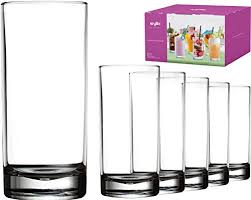 plastic tumbler cups drinking glasses acrylic highball tumblers set of 6 clear 16 oz unbreakable reusable kitchen drinkware dishwasher safe bpa free hard