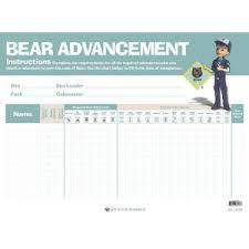 Cub Scout Bear Advancement Chart Boy Scouts Of America