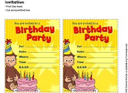 Curious George Invitations Birthday Party Pbs Parents Pbs