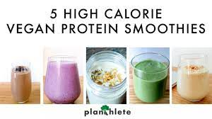 5 high calorie vegan smoothies that are