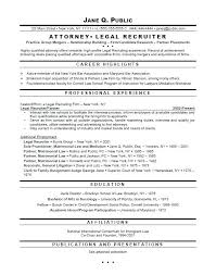 Attorney Resume Templates Legal Resume Template Sample Law