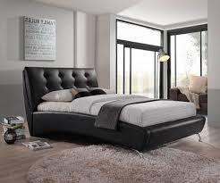 aj living oxford faux leather double bed frame only