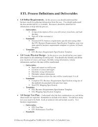 Etl Design Document Process Document Template Business Requirements Templates
