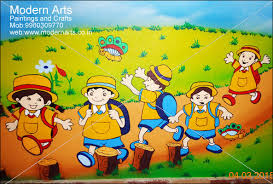 ... cartoon wall painting for school in vashi ...