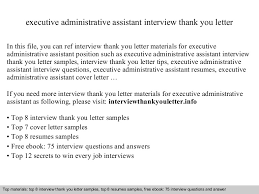 Bunch Ideas Of Sample Thank You Letter After Interview Executive