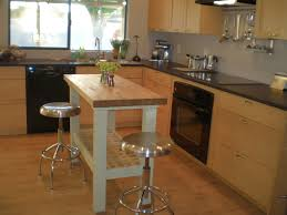 Love the look of the Ikea Groland island with the base painted white. Kitchen  Table ...