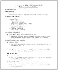 S Corporation Annual Meeting Minutes Template