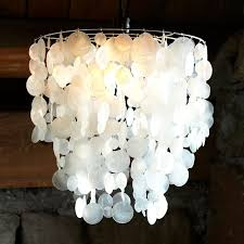 tap the thumbnail bellow to see gallery of how to make a diy hanging capiz shell pendant chandelier with light decor 17