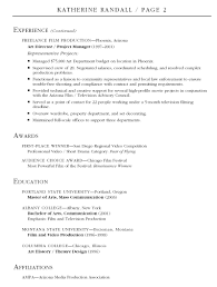 Production Resume Template Production Resume Template Production