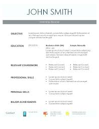 Internship Resume Templates Fascinating Intern Resume Examples Choose From A Variety Of Templates And