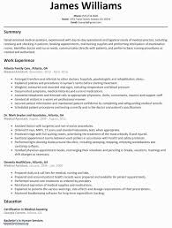 Resume Template Examples New Nanny Resumes Beautiful Westside