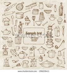 vine card with kitchen utensils and place for your text find this pin and more on recipe book