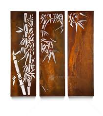 >home outdoor wall sculpture laser cut steel wall art  home outdoor wall sculpture laser cut steel wall art triptych