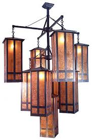 craftsman mission style lamps church street craftsman mission style nine light chandelier by meyda tiffany