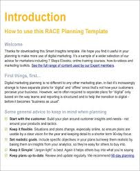 Business Brief Example Marketing Business Plan Template Small Business Plan Template Free