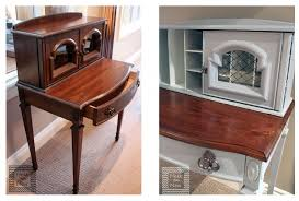 updated vintage secretary desk