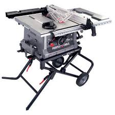 dado blade lowes. runs on a 15 amp outlet, and has the capacity to run dado blade is porter cable pc b220-ts. lowes sells this saw around here for $299. dado