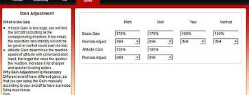 dji naza m v2 review rc groups the gain tab