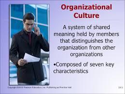 organizational culture organizational culture