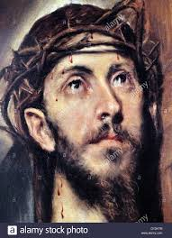 detail from a painting depicting christ carrying the cross by el greco 1541 1614 a painter sculptor and architect of the spanish renaissance